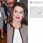 Letizia Ortiz look: tailleur firmato Hugo Boss FOTO