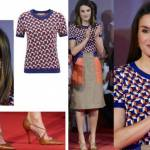 Letizia Ortiz look: gonna e maglia multicolor 4