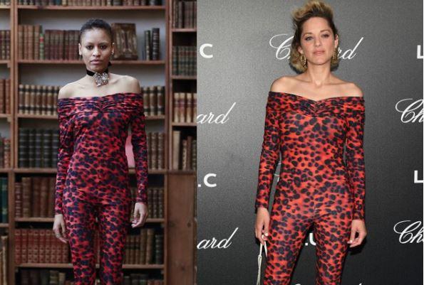 Cannes 2018, Marion Cotillard osa: tutina aderente maculata