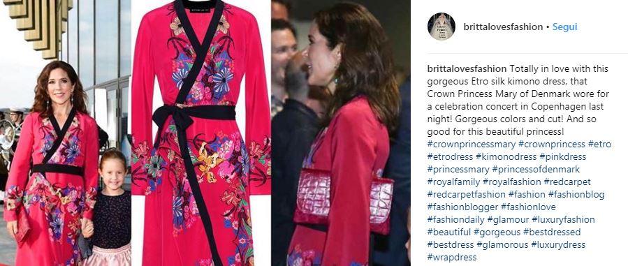 Mary di Danimarca incanta con l'abito kimono da 1.700 euro