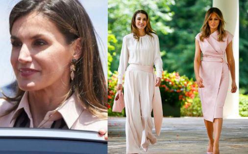 Letizia Ortiz, Rania di Giordania, Melania Trump: passione rosa
