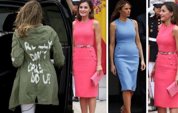 Letizia Ortiz, Melania Trump: i look polemici della settimana