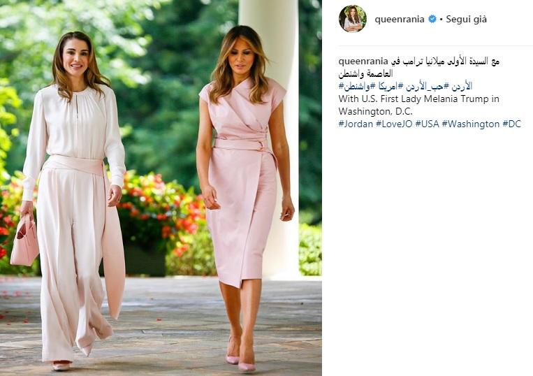 Rania di Giordania e Melania Trump: sfida di stile alla Casa Bianca