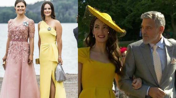 Sofia di Svezia come Amal: alle nozze di Louise Gottlieb sceglie il giallo