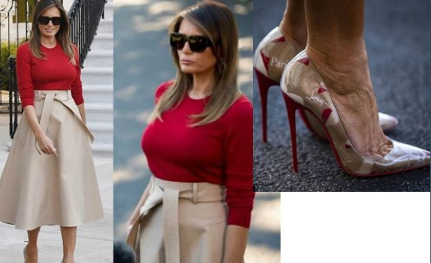 Melania Trump lancia le paper shoes...firmate Louboutin