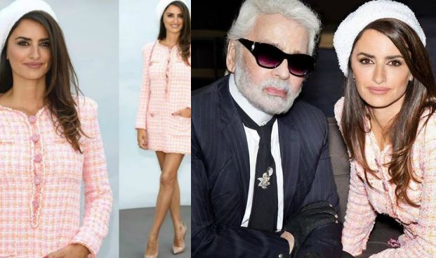 Penelope Cruz incanta alla sfilata Chanel: mini abito rosa