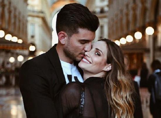 Beatrice Valli e Marco Fantini sulla passerella di Dolce e Gabbana