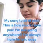 Selena Gomez struccata: su Instagram canta il brano della fan2