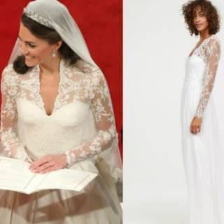 Kate Middleton abito da sposa low cost  ecco il modello H M 78d72c64980