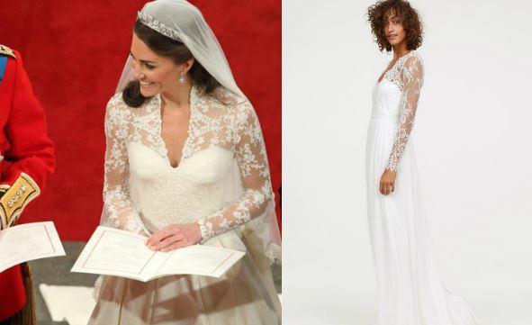 Kate Middelton, H&M lancia una versione low cost del suo abito da sposa