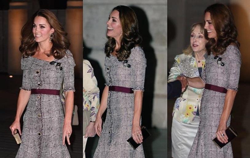 Kate Middleton punta sul trend di stagione: abito in tweed e tacchi
