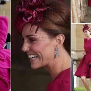 152b6678738e Kate Middleton abito Alexander McQueen alle nozze di Eugenia
