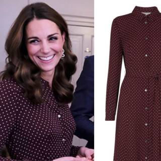 premium selection a5702 afa90 Kate Middleton outfit: vestito a pois low cost e super chic