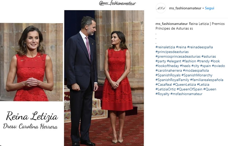 Letizia Ortiz look, la regina incanta ancora in rosso