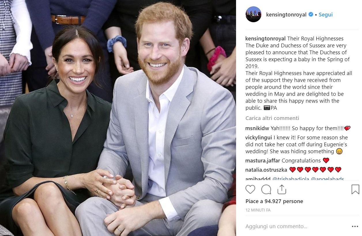 Meghan Markle incinta: royal baby in arrivo