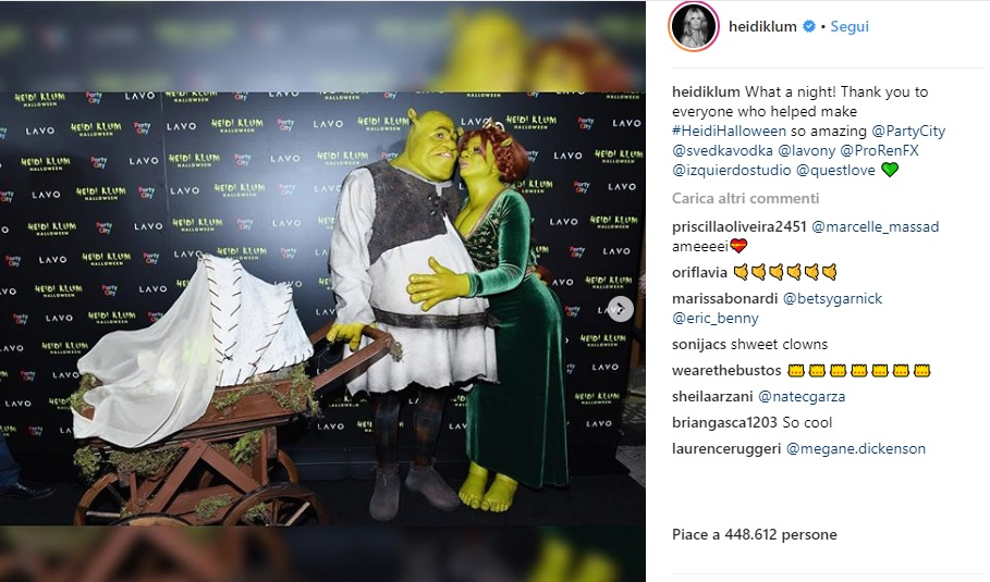 Heidi Klum ad Halloween è Fiona: il suo Shrek è Tom Kaulitz4