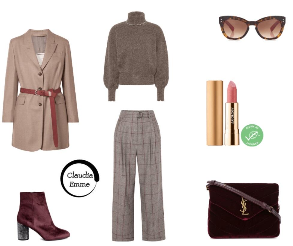 Outfit del giorno: smart e chic con i colori d'autunno