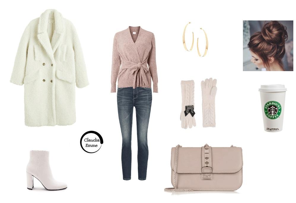 Outfit del giorno: jeans e teddy coat, per stare comoda con stile