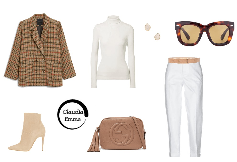 Outfit del giorno: due idee per indossare i pantaloni bianchi