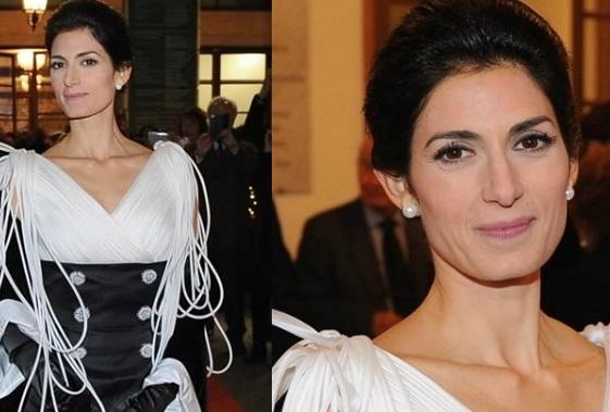 Virginia Raggi all'Opera di Roma, chi è lo stilista del suo abito FOTO