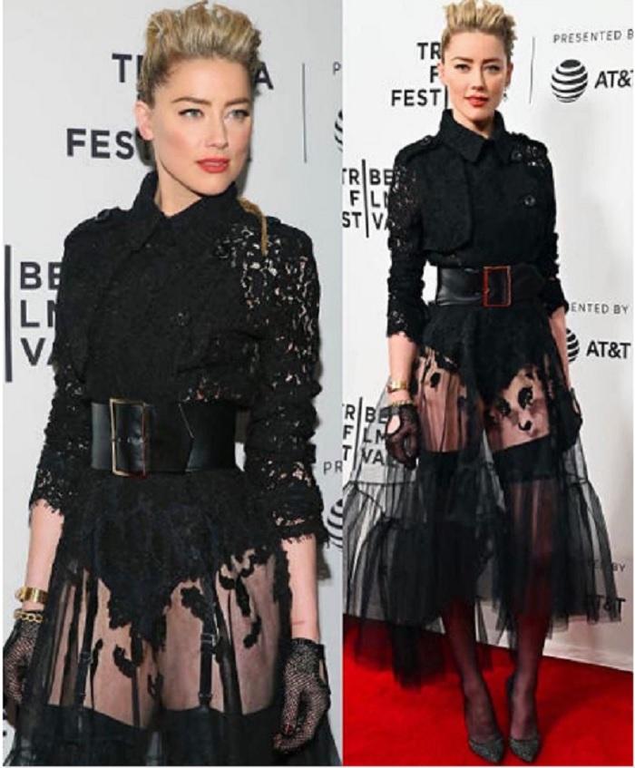 Amber Heard sfila al Tribeca Film Festival2