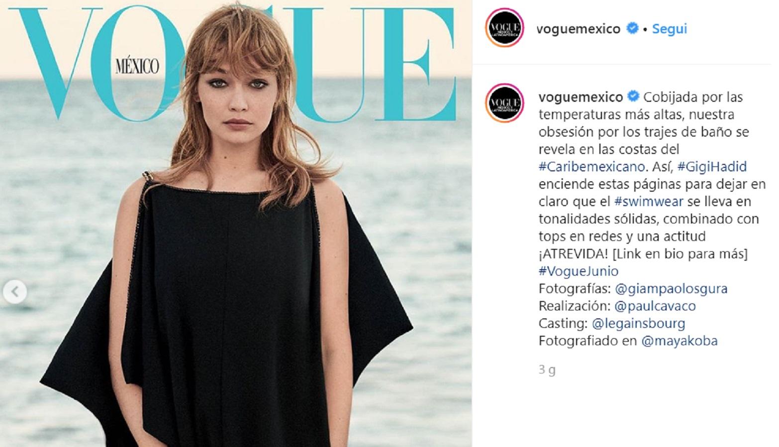 Gigi Hadid, le foto del nuovo look con frangia finta!