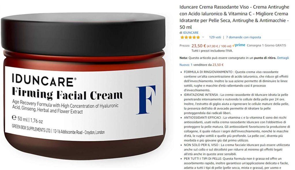 Iduncare crema per la pelle del viso