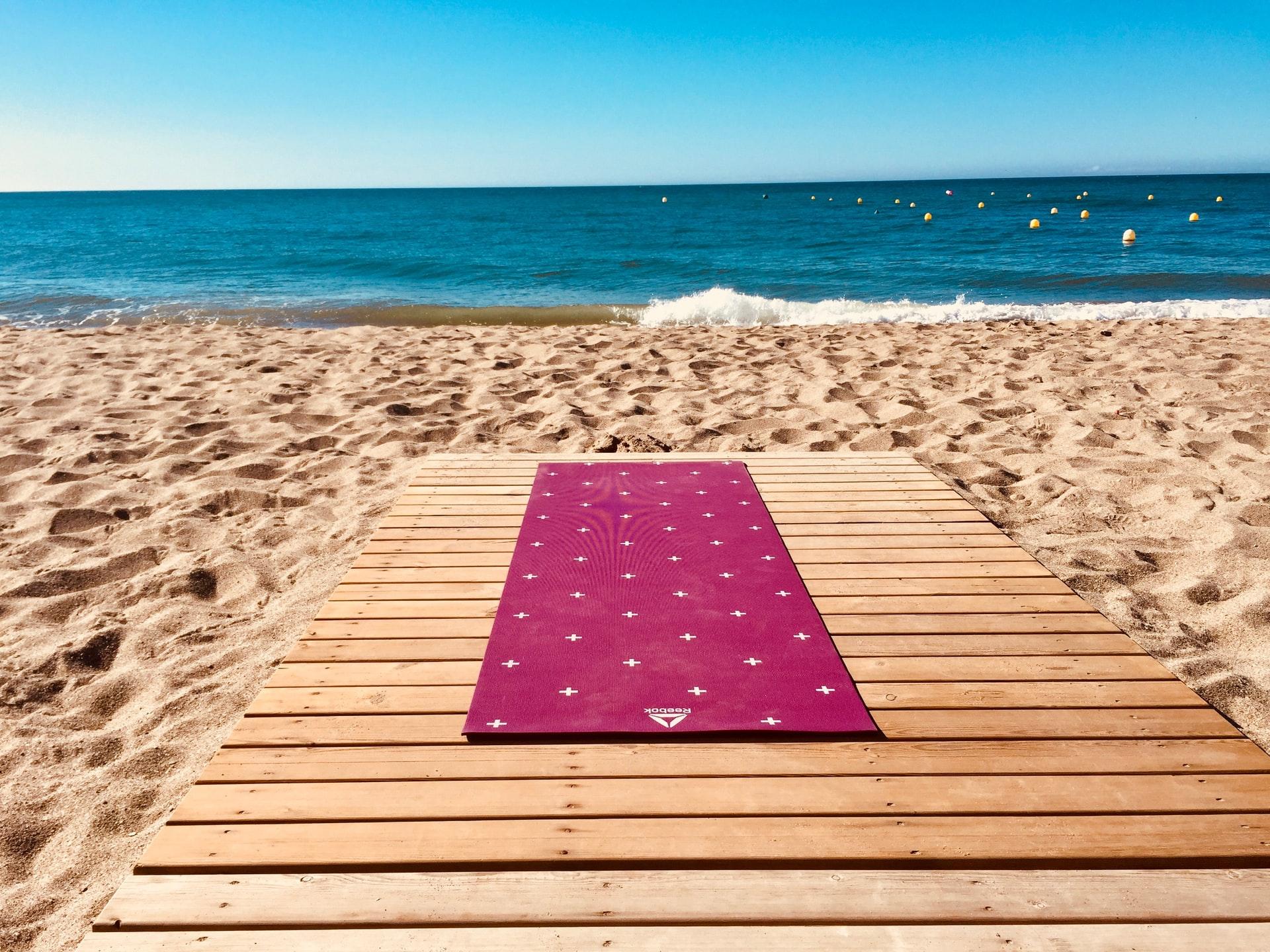 tappetino per fare yoga