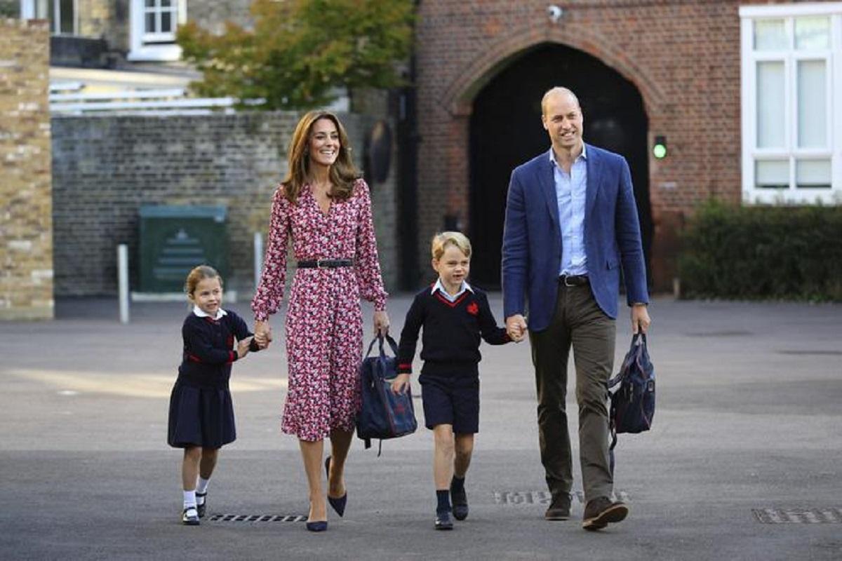 Kate Middleton, William, George e Charlotte