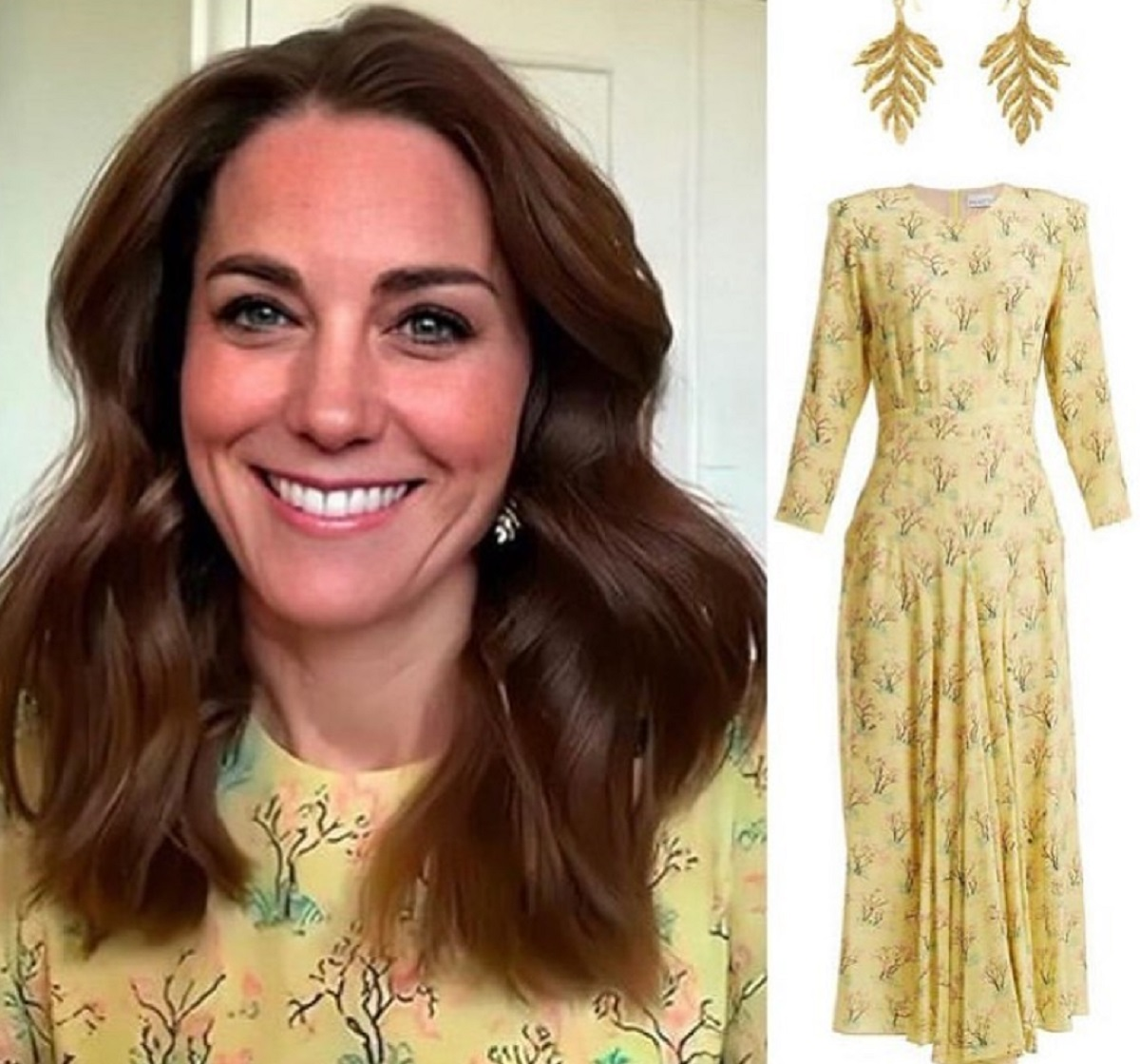 Kate Middleton e il vestito a fiorellini