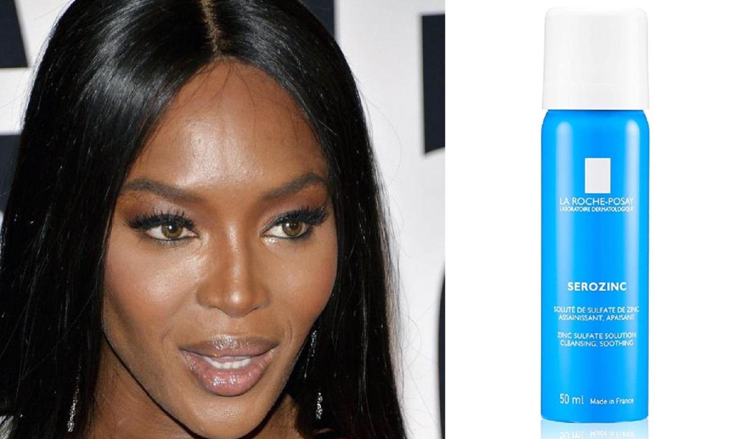 Naomi Campbell usa questo spray viso allo zinco
