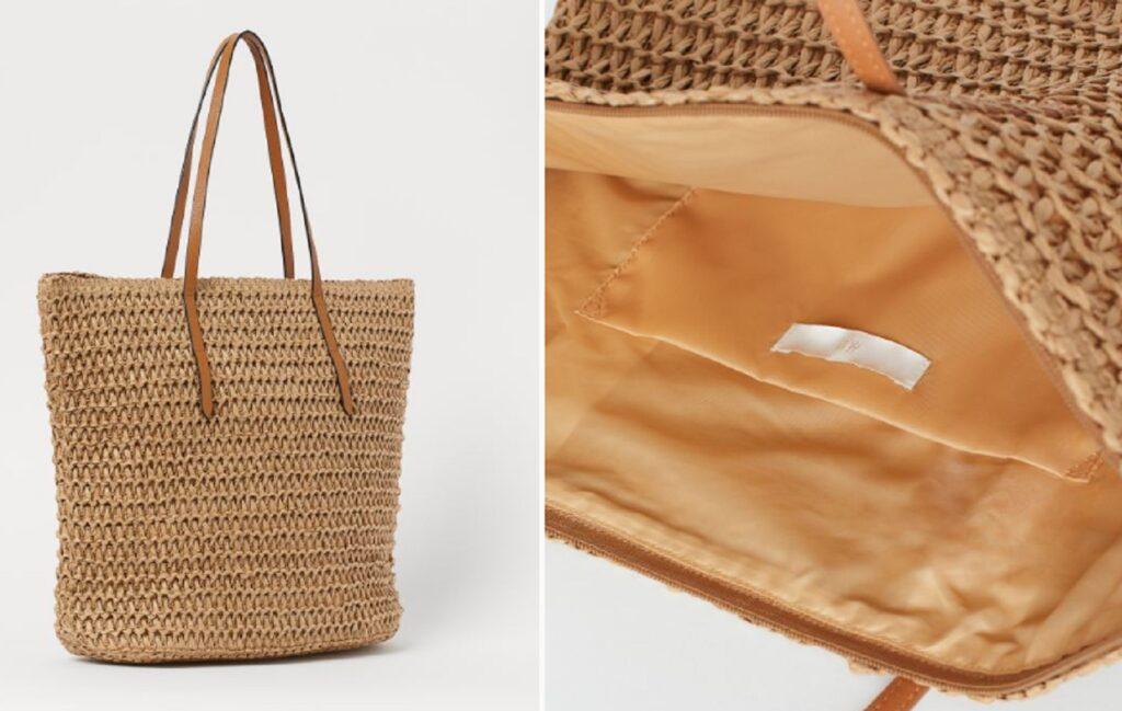 La shopper H&M in paglia da 14,99 euro è la tua alleata in spiaggia
