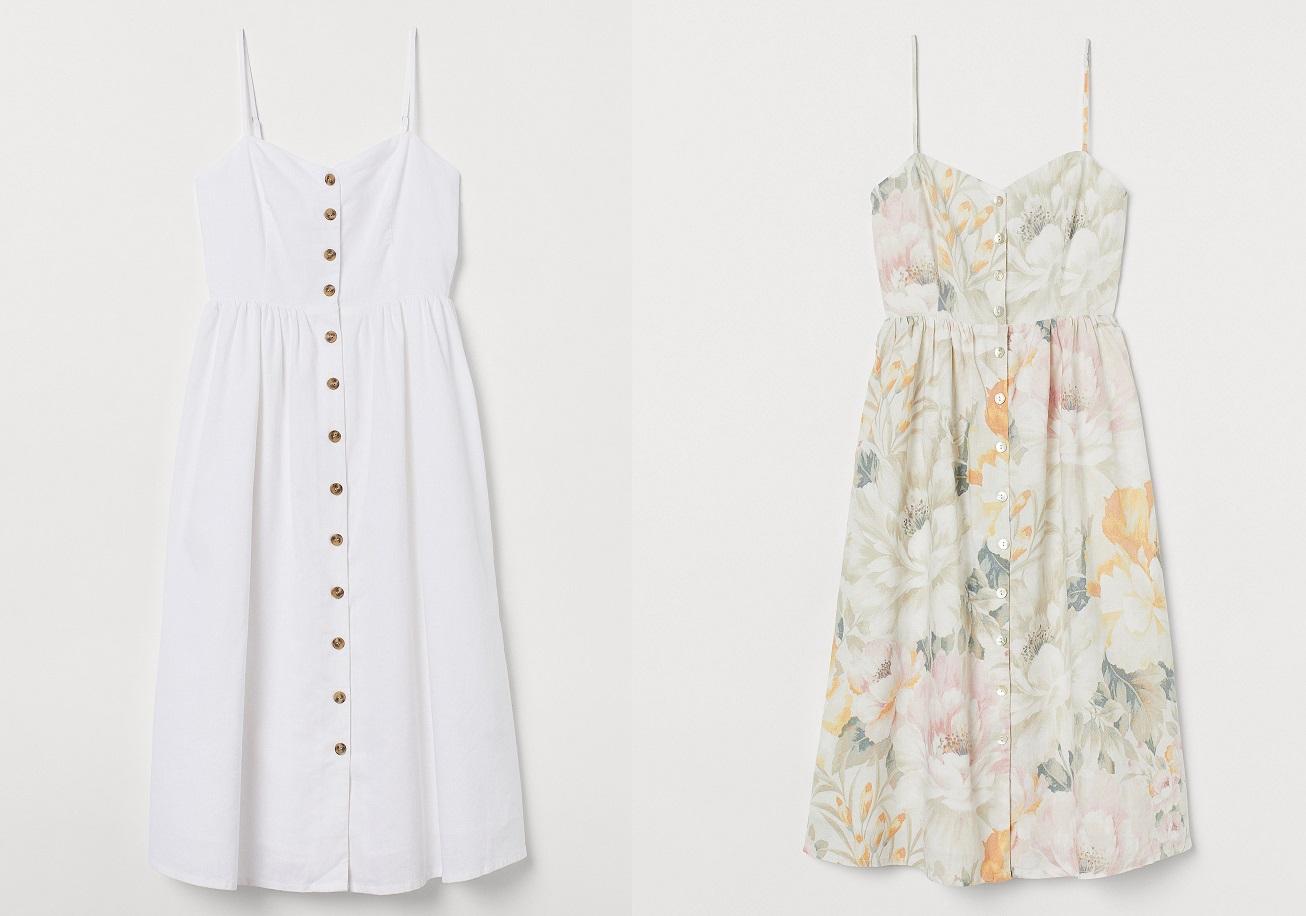 Non potrai più fare a meno di questo vestito in misto lino e cotone di H&M a soli 29,99 euro