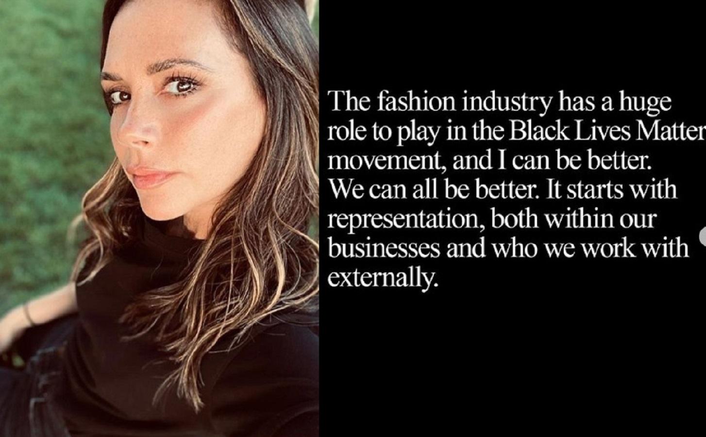 """Victoria Beckham: """"La moda ha un ruolo enorme nel movimento Black Lives Matter"""""""