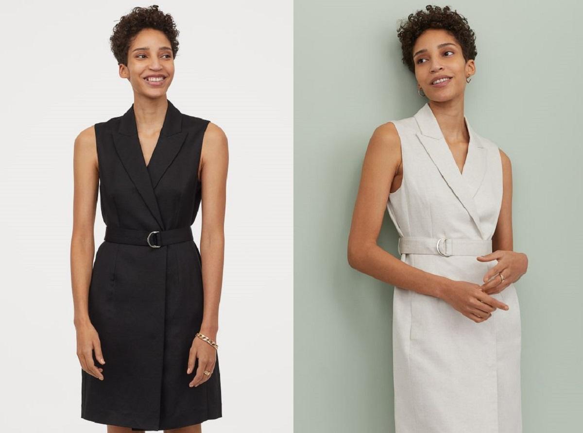 abito blazer in misto lino di H&M