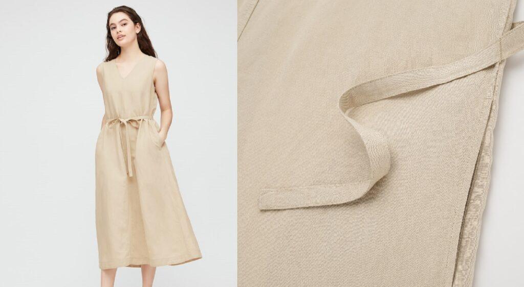 L'abito Uniqlo in misto lino a 29,90 euro da mettere nel carrello