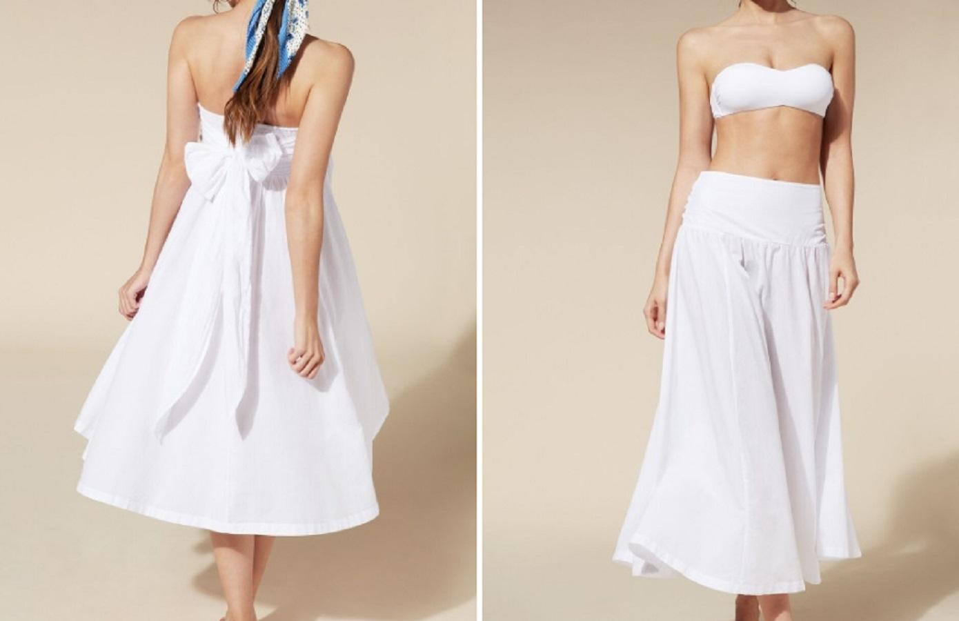 La gonna bianca Calzedonia da 17,90 euro da usare come vestito