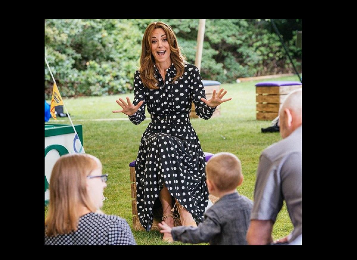 Kate Middleton in un abito a pois