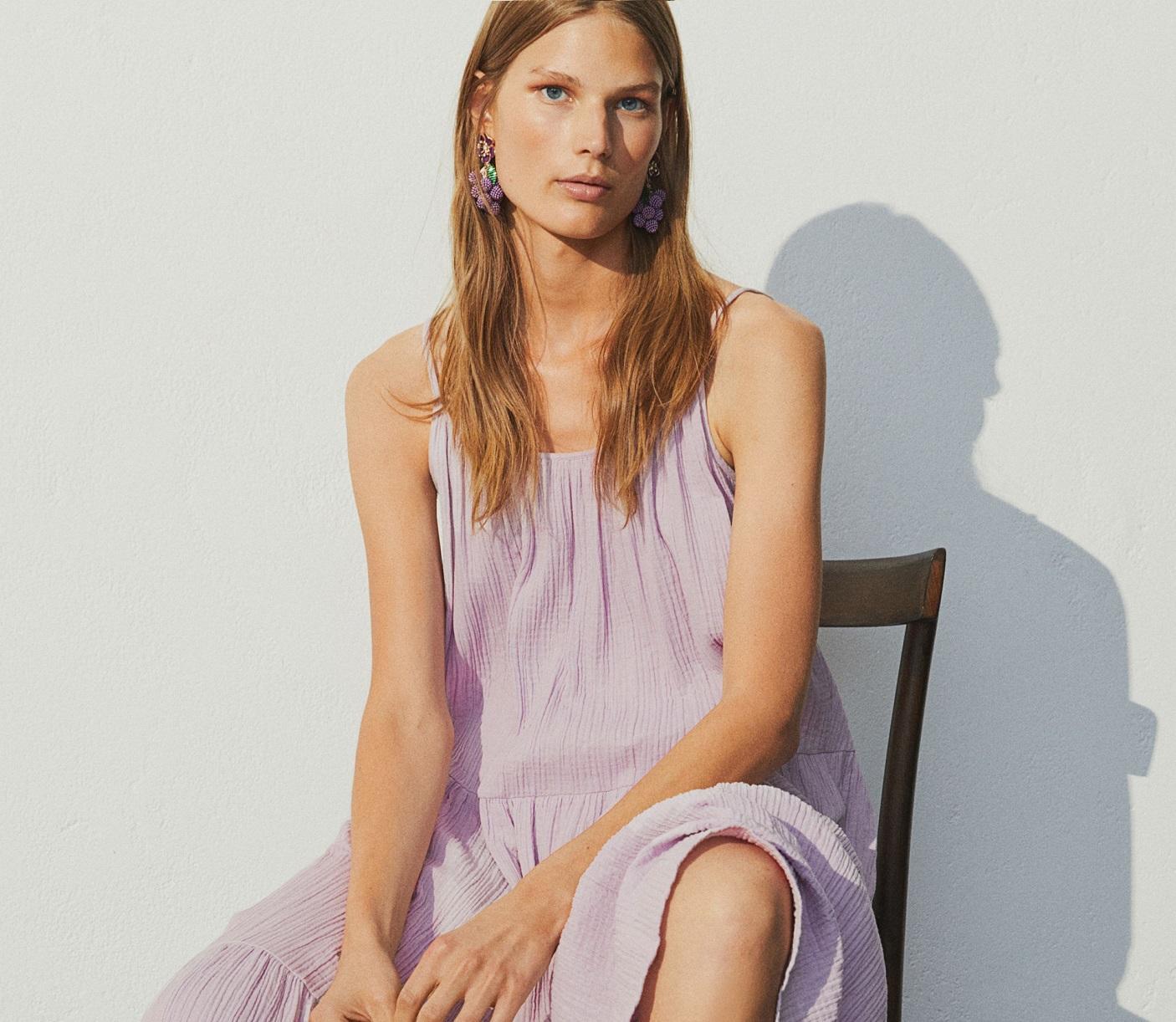 abito lilla di H&M