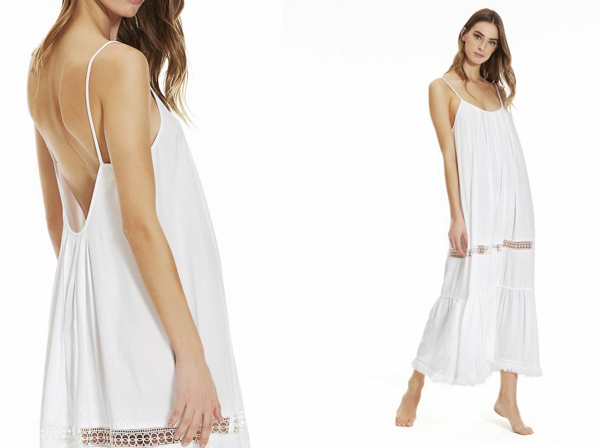 Questo abito bianco in stile ibizenco è il tuo alleato per l'estate