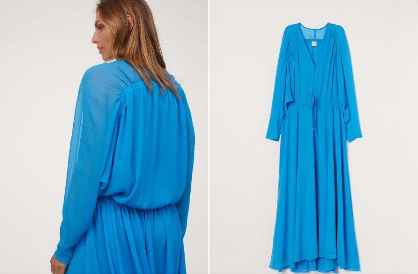 L'abito azzurro H&M per salutare questo agosto con stile