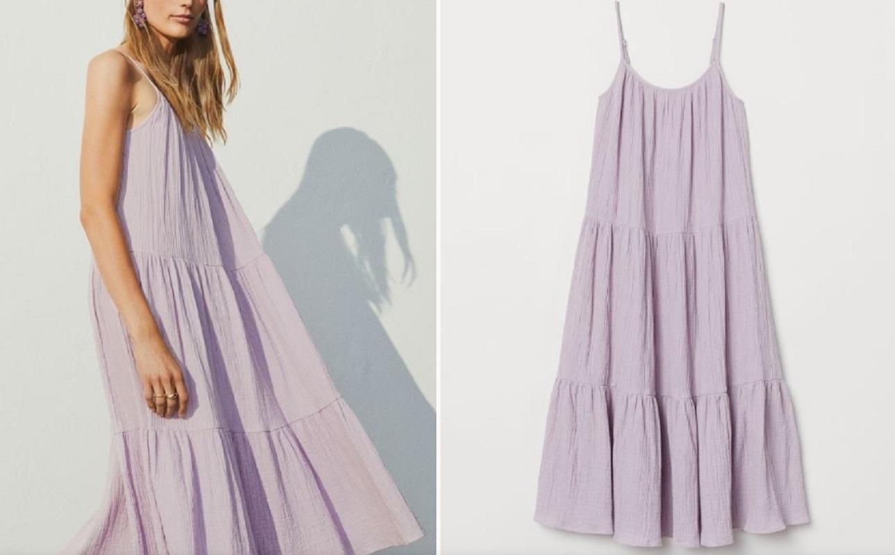 L'abito lilla H&M a 24,99 euro che devi avere nel tuo guardaroba