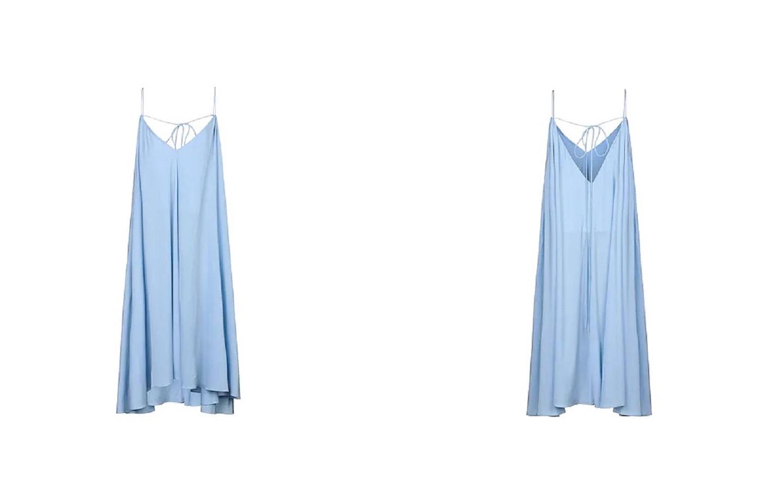 Questo abito azzurro esalta l'abbronzatura ed è anche confortevole