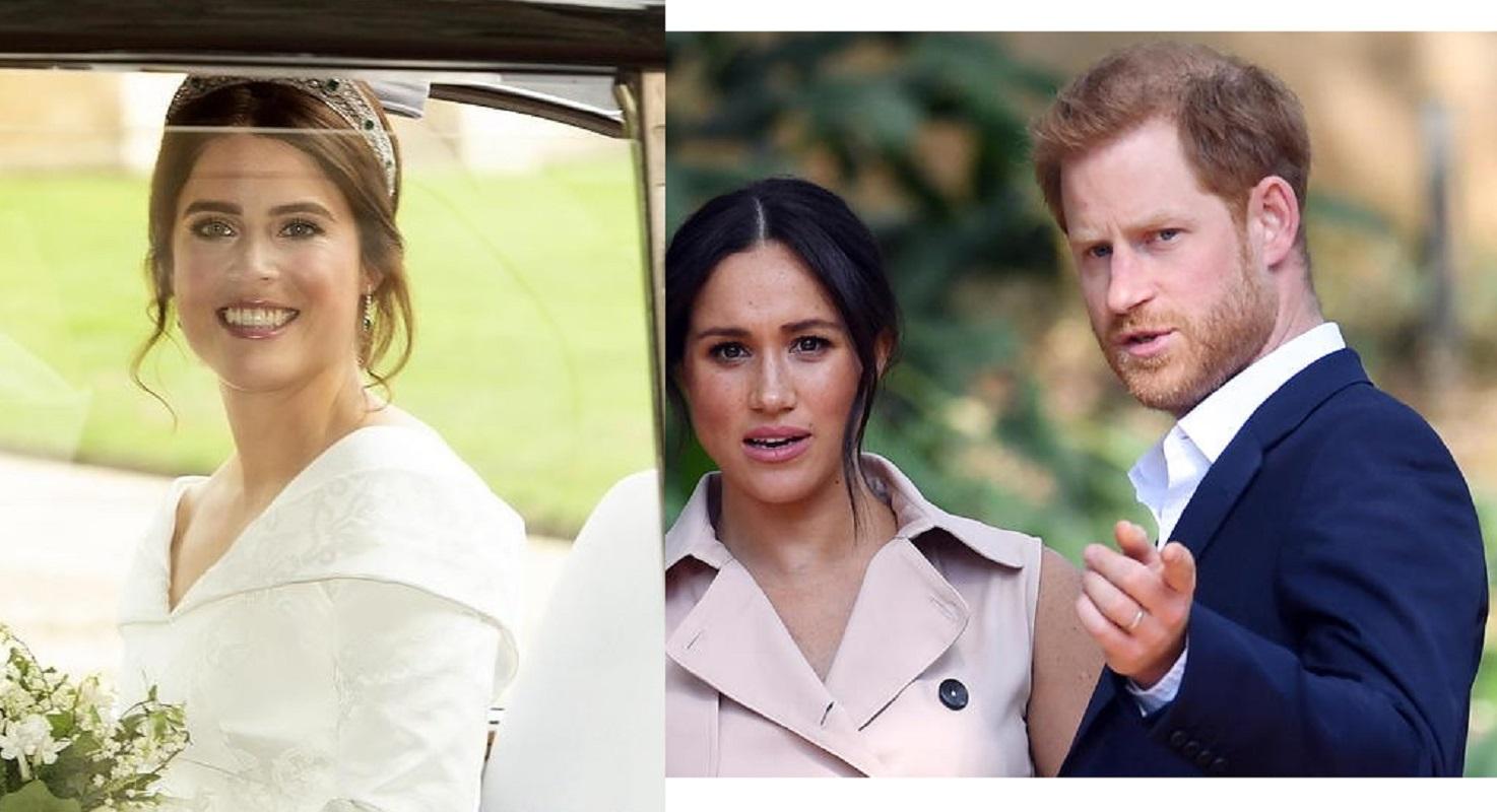 Eugenia di York infastidita da Harry e Meghan il giorno delle sue nozze
