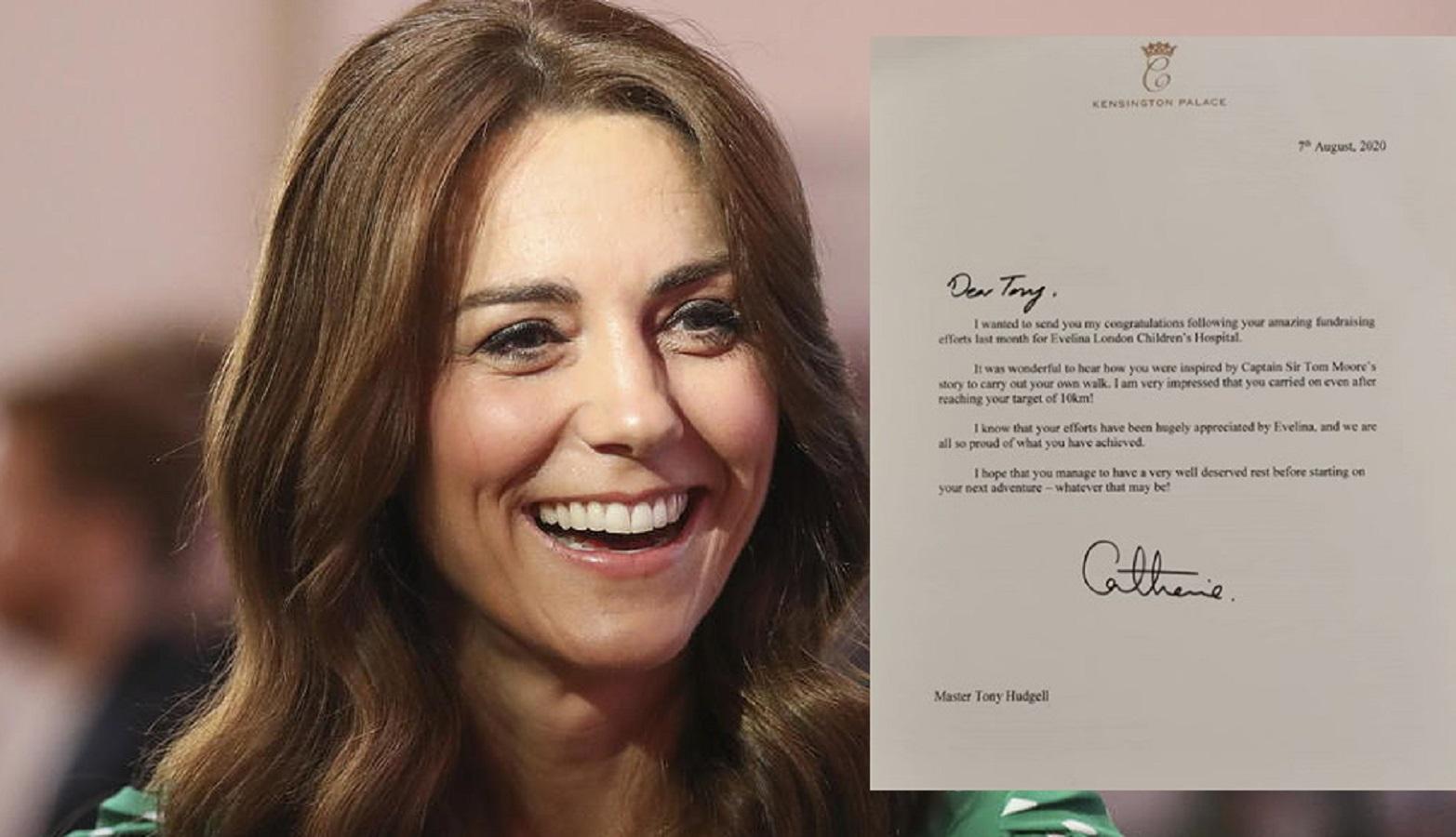 Kate Middleton scrive una lettera a un ragazzo per un'ottima ragione