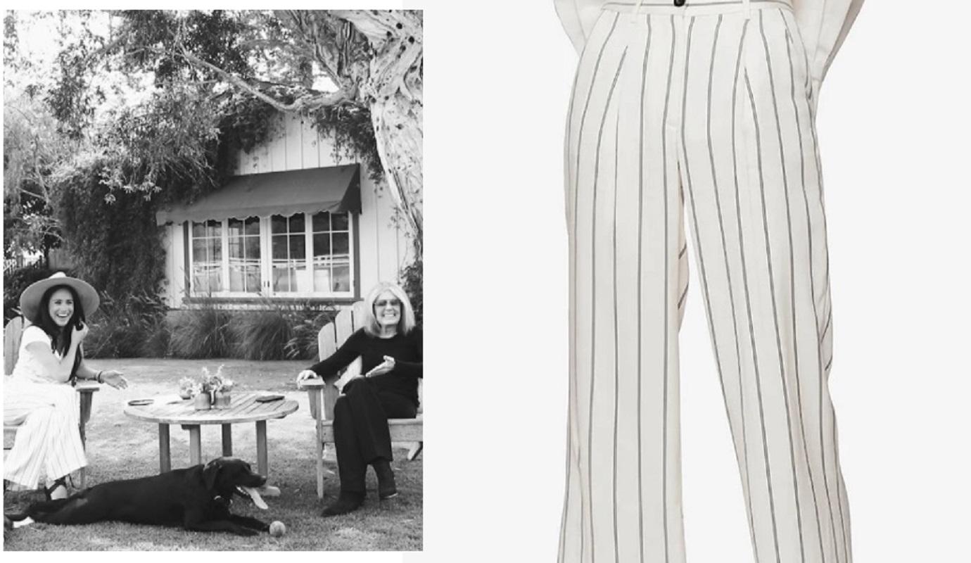 Meghan Markle, pantaloni da 249 euro firmati Anine Bing