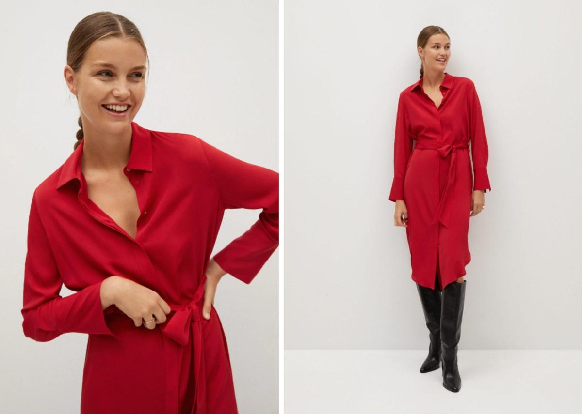vestito Mango rosso
