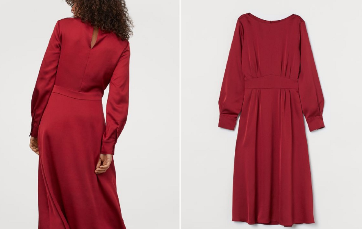 L'abito rosso H&M in satin è il tuo alleato per l'autunno