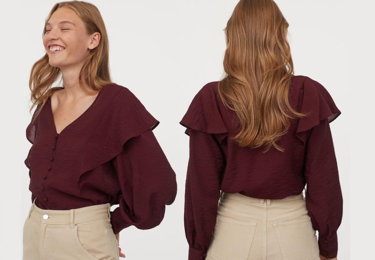 blusa H&M con volant