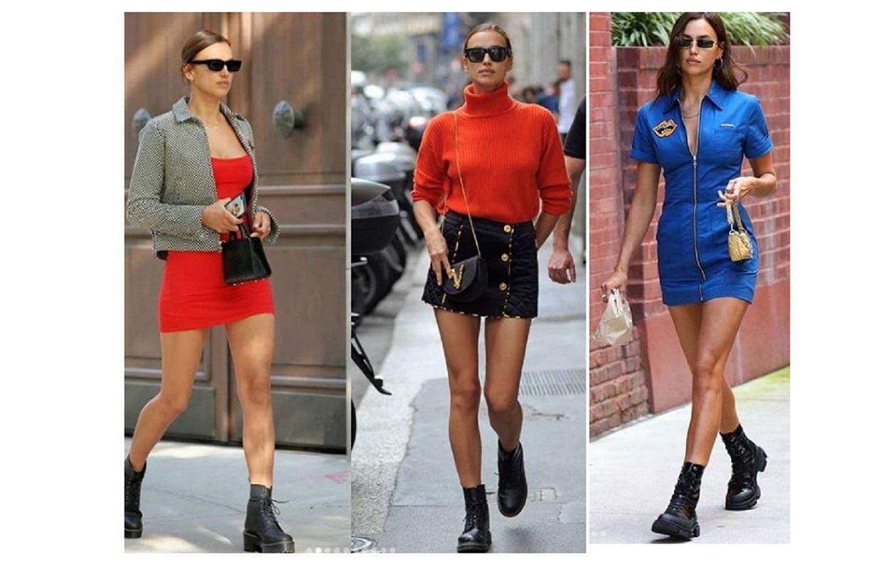 Stivali militari, i favoriti di Irina Shayk: a New York impazza la moda